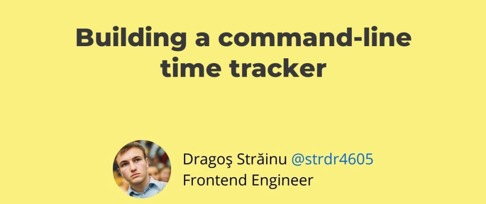 Cover image for Building a command-line time tracker