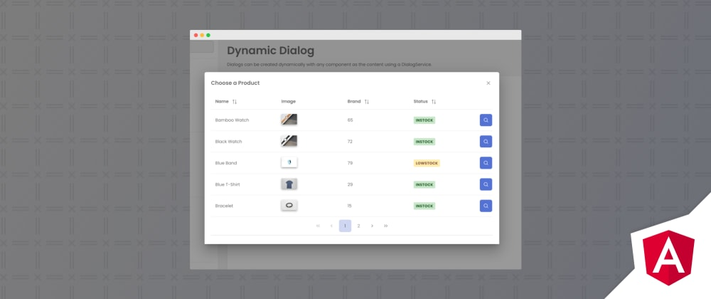Cover image for Angular DynamicDialog