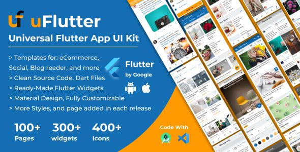 uFlutter – Universal Flutter App UI Kit