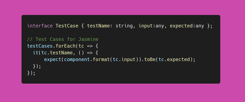 Introducing TestCases to Typescript