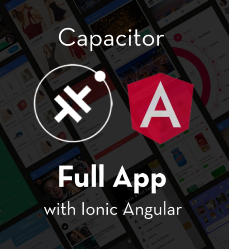Capacitor Full App with huge number of layouts and features