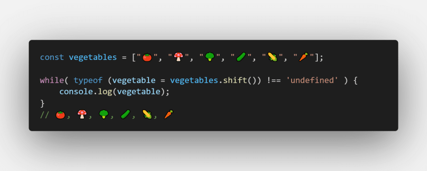 Iterate over an array and remove all the elements using the shift method
