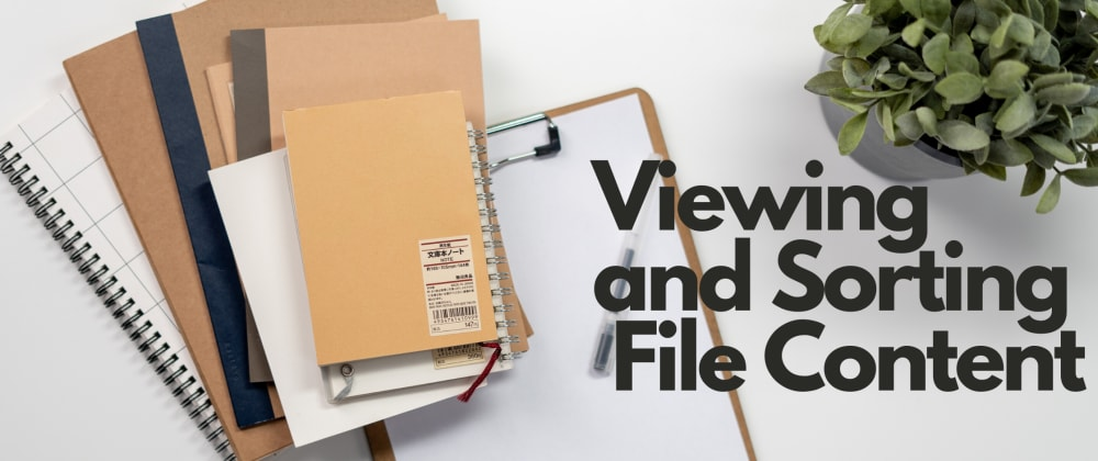 Cover image for Commands for Viewing and Sorting Files