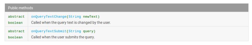 SearchView.OnQueryTextListener()
