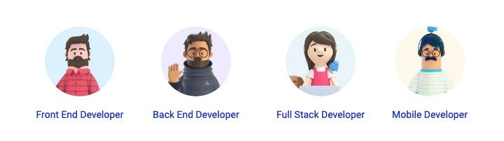 Job categories for developers