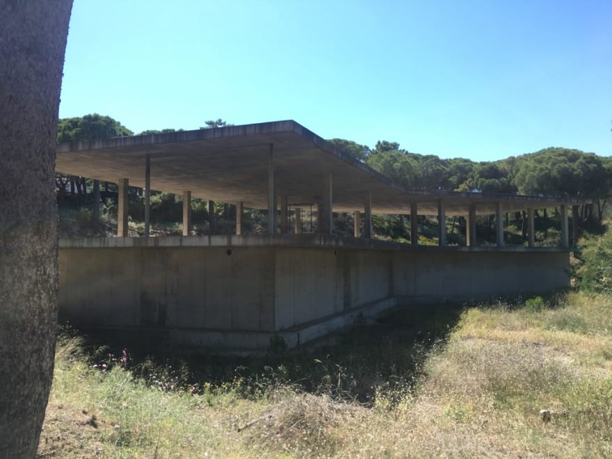 Abandoned, unfinished building