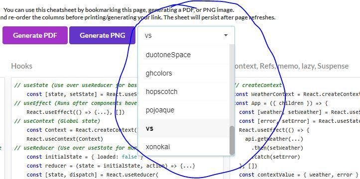 Here's a React v16+ Cheatsheet (PDF/JPEG/Custom themes) - DEV