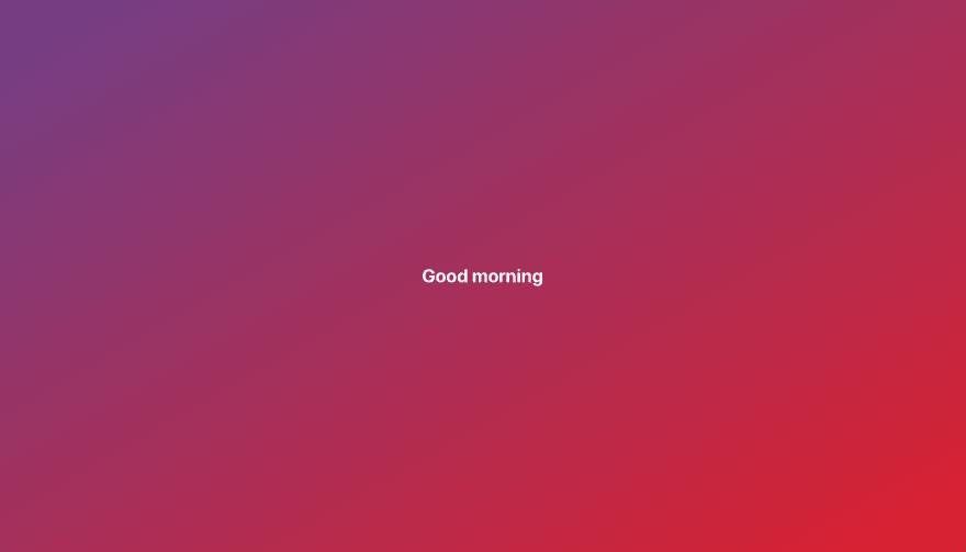 Greetings Screenshot