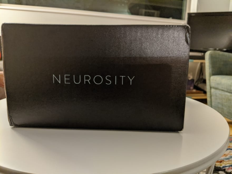Black box with Neurosity on the side.