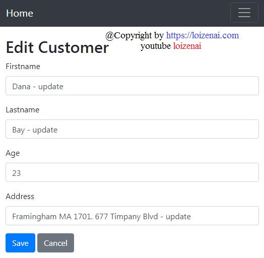 Project Goal - Update Customer
