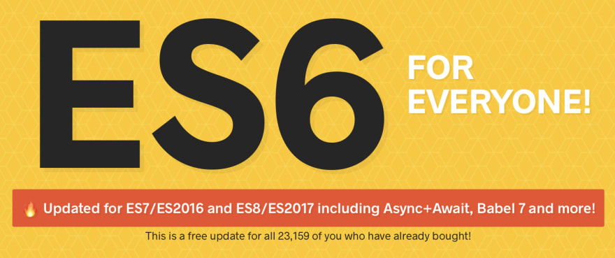 Graphic says, ES6 for Everyone