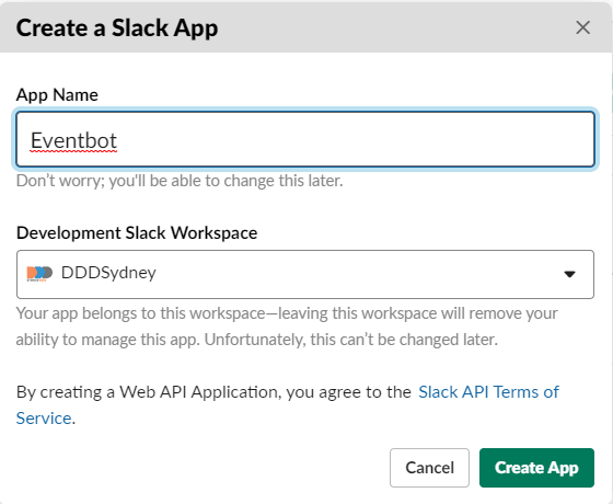 Creating a Slack App