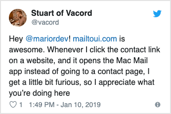 Twitter post by @vacord