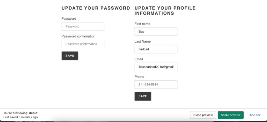 How to allow your customer to edit their Shopifyaccount