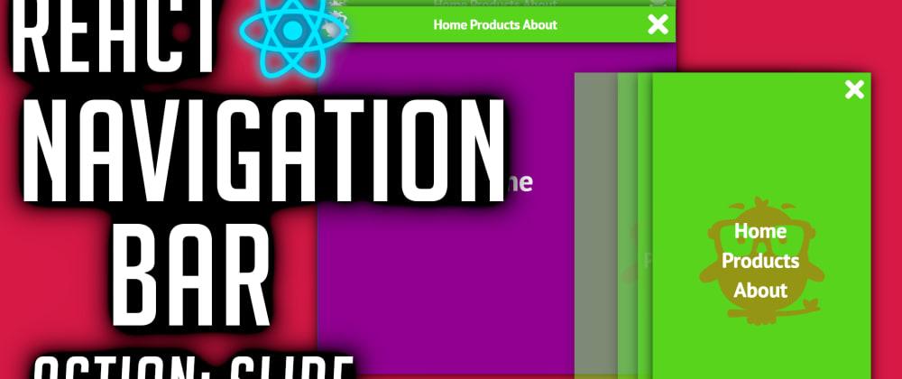 Cover image for React Navigation Bar Tutorial (Slide)