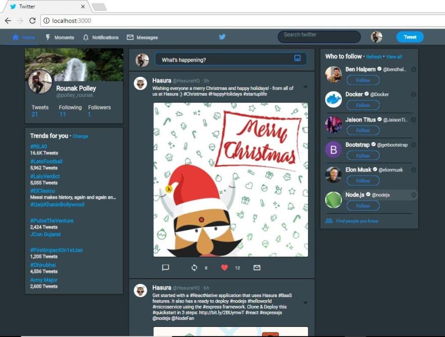Twitter-homepage