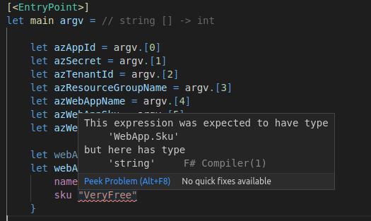 Farmer Compiler warning