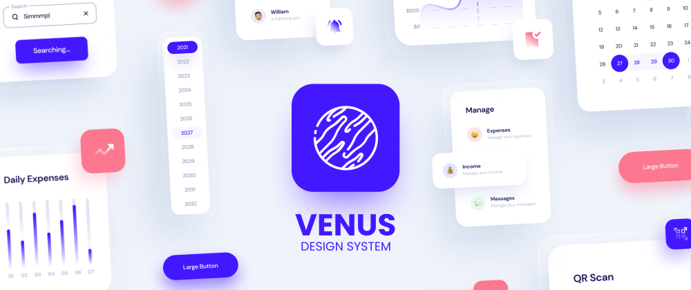 Cover image for I made a complex Design System For Figma with 2000+ Components! Also, a Free Version is available.