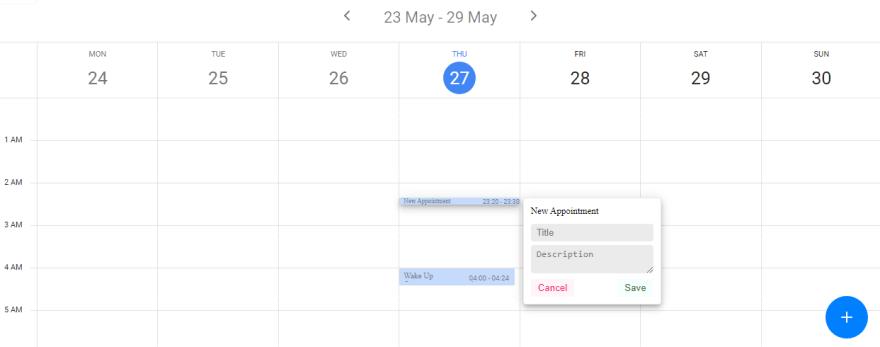 Kalendar Vue