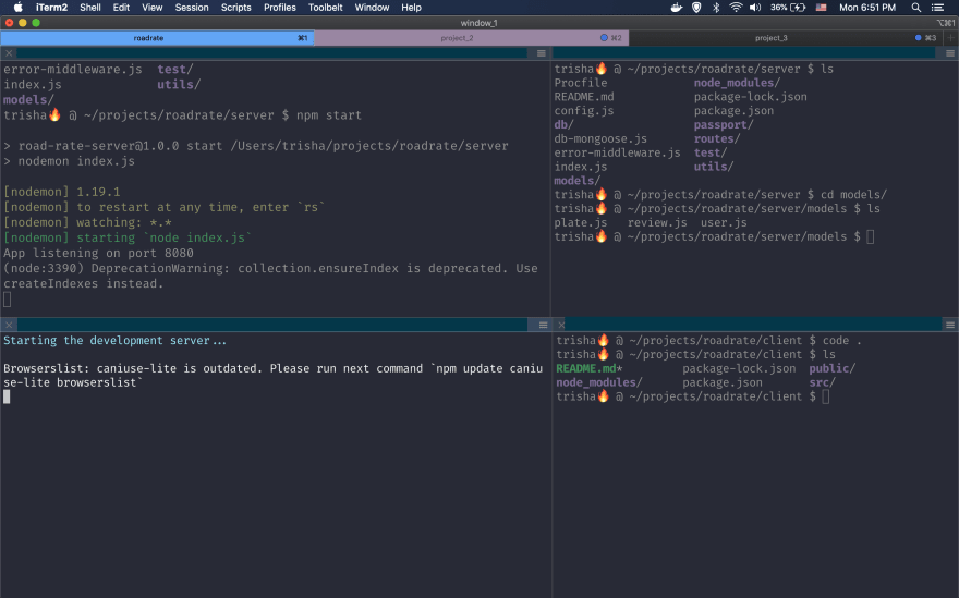 example of dracula theme iterm2