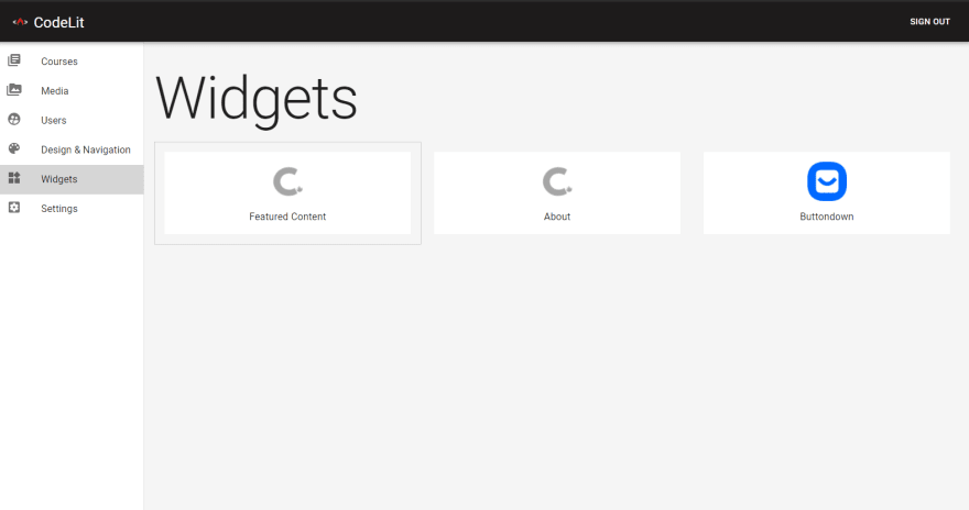 Official Widgets In CourseLit
