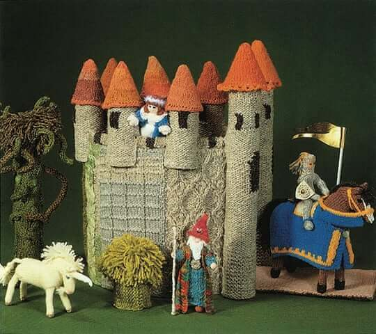 Knitted castle