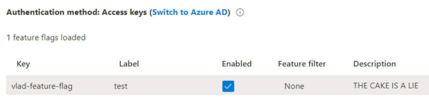 Microsoft's feature flag offering