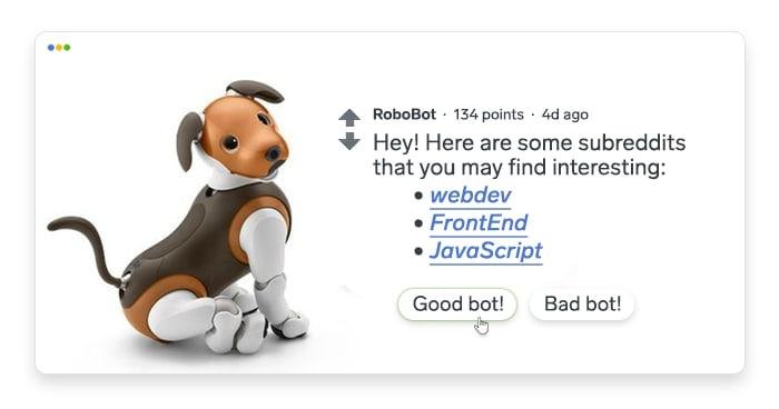 artwork depicting a stylized robot dog