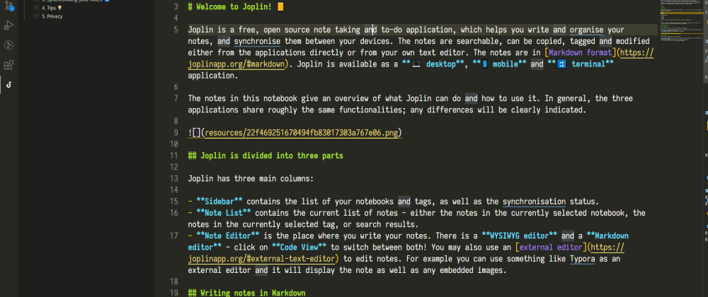 Cover image for Using VSCode + Joplin as a note taking tool