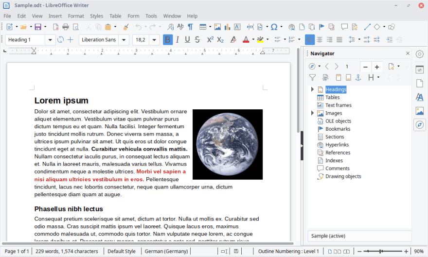 LibreOffice word processor