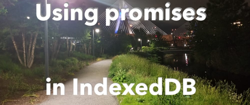 Cover image for Using promises in IndexedDB