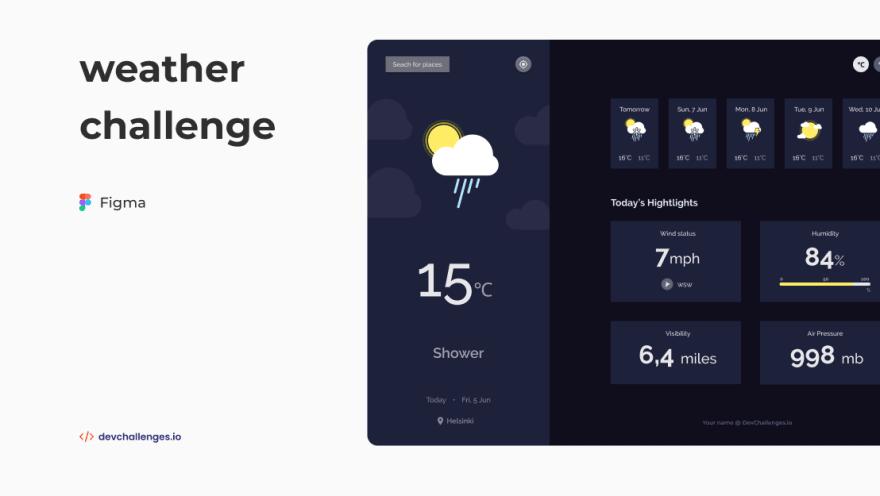 weather app devchallenges.io