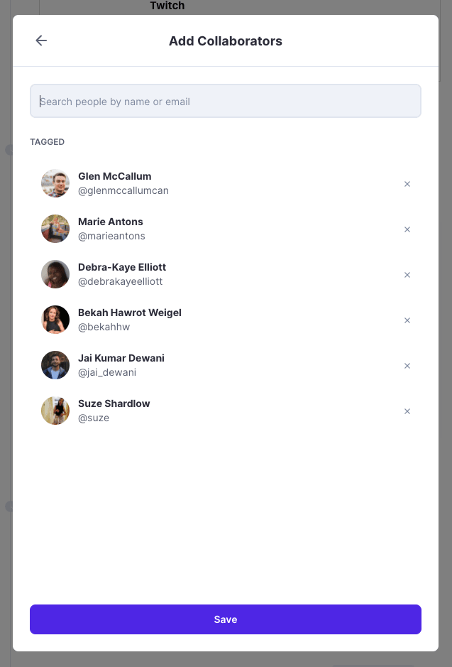 Polywork add collaborators