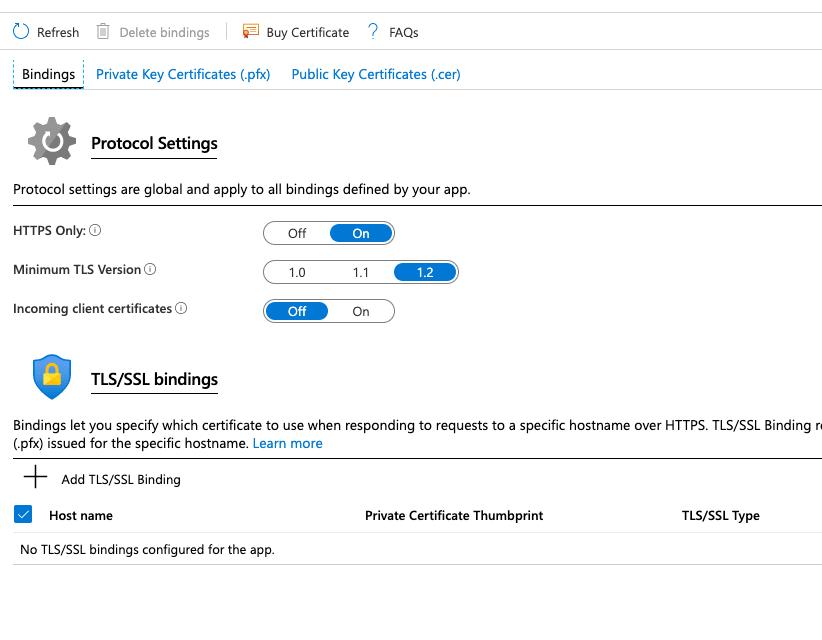 SSL Bindings