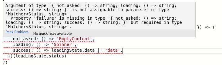compiler error on missing property