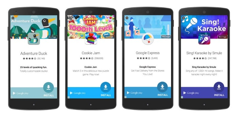 An example of Google AdMob ad. The ad is prompting user to install certain app