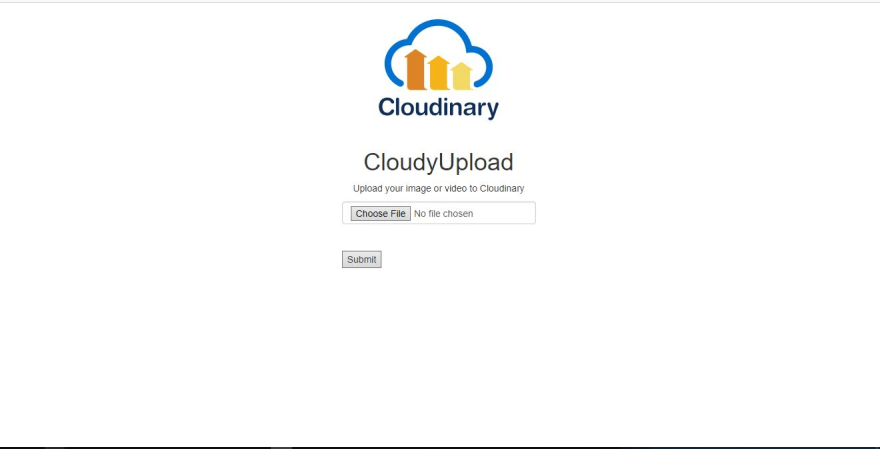cloudy upload form