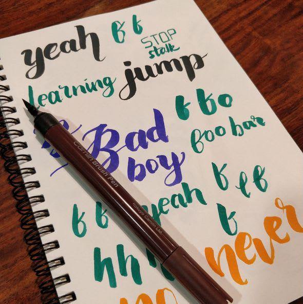 beginner hand lettering picture