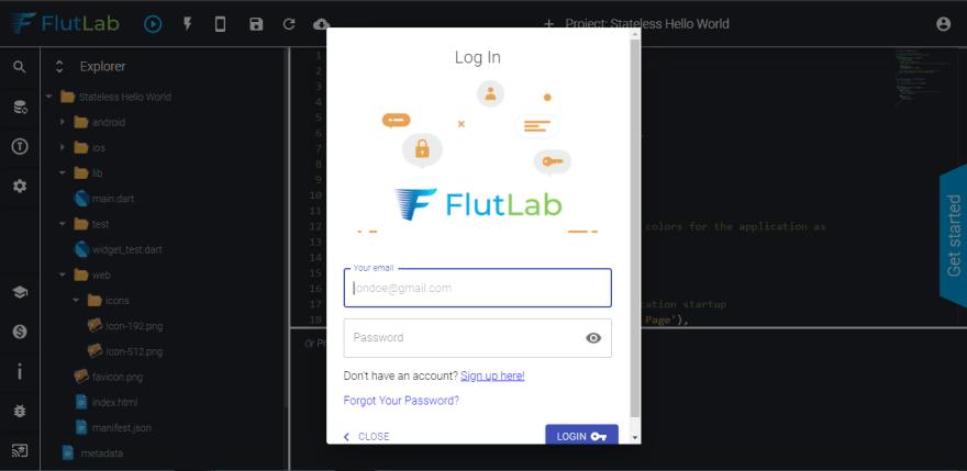 Flutlab Login