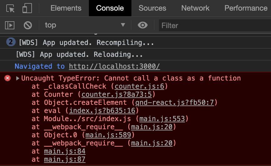 class component error