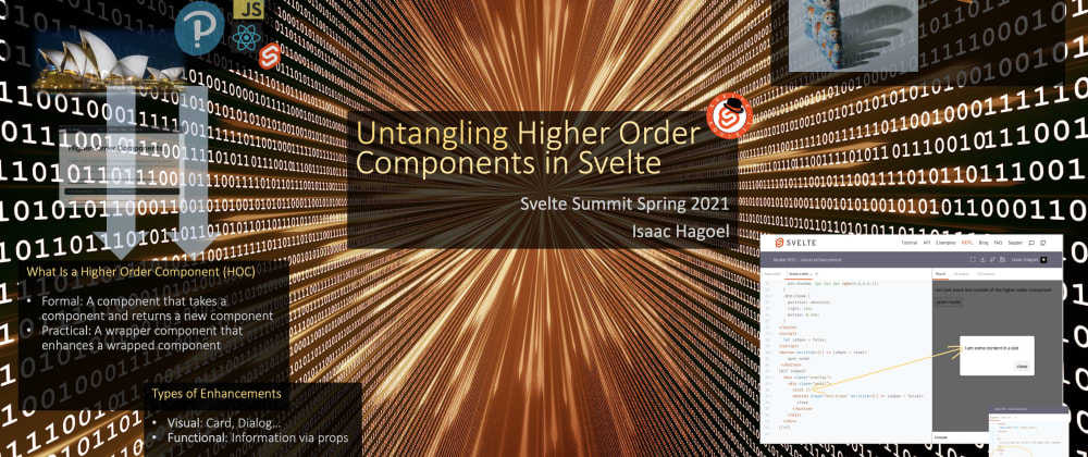 Cover image for Untangling Composition and Higher Order Components in Svelte