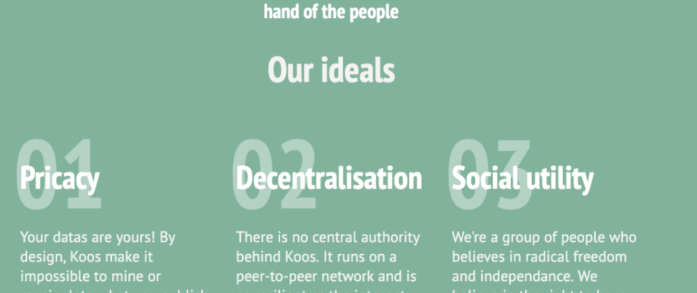 Cover image for Koos, a decentralised social network