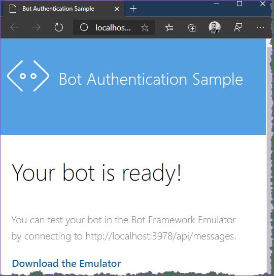 Bot Service Running