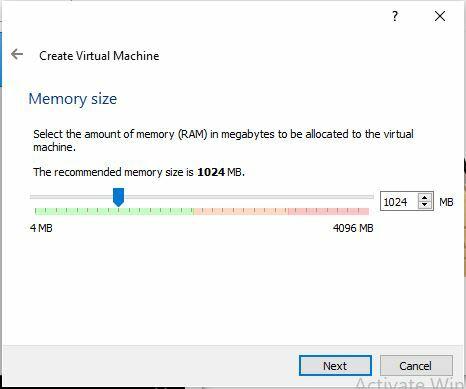 Set a memory size