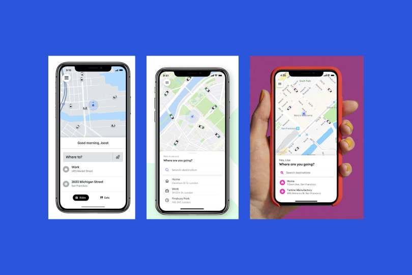 Maps in Lyft and Uber