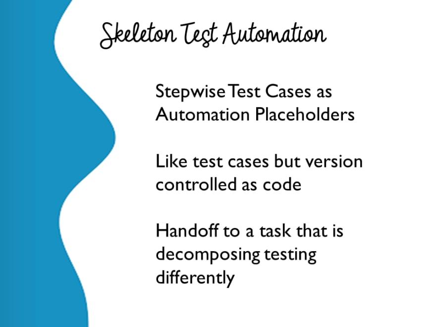 Skeleton Test Automation