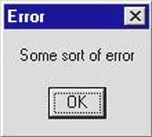 a screenshot of a computer error