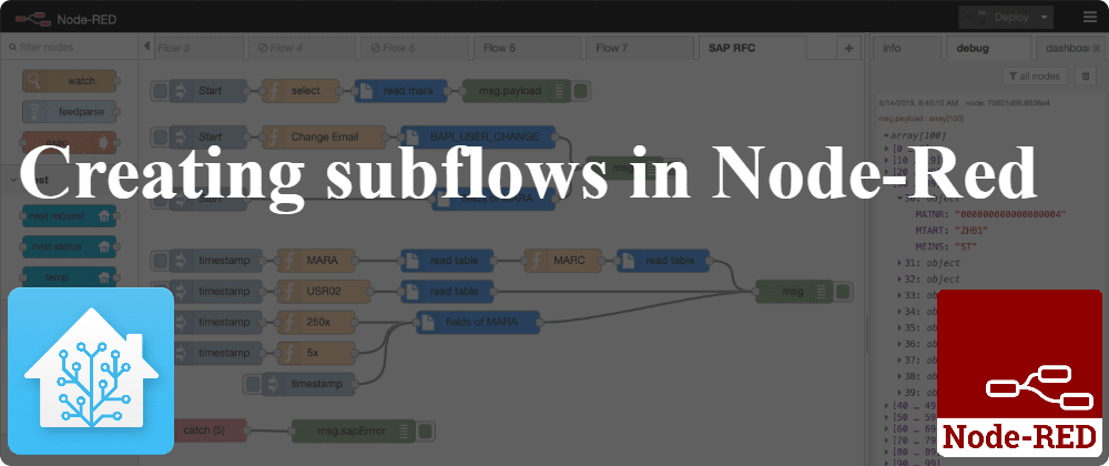 Cover image for Creating subflows in Node-Red
