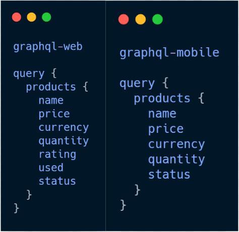 graphQL Web vs Mobile