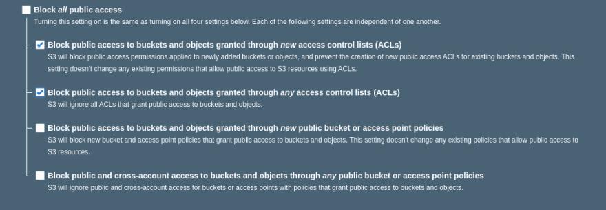 AWS S3 Permissions